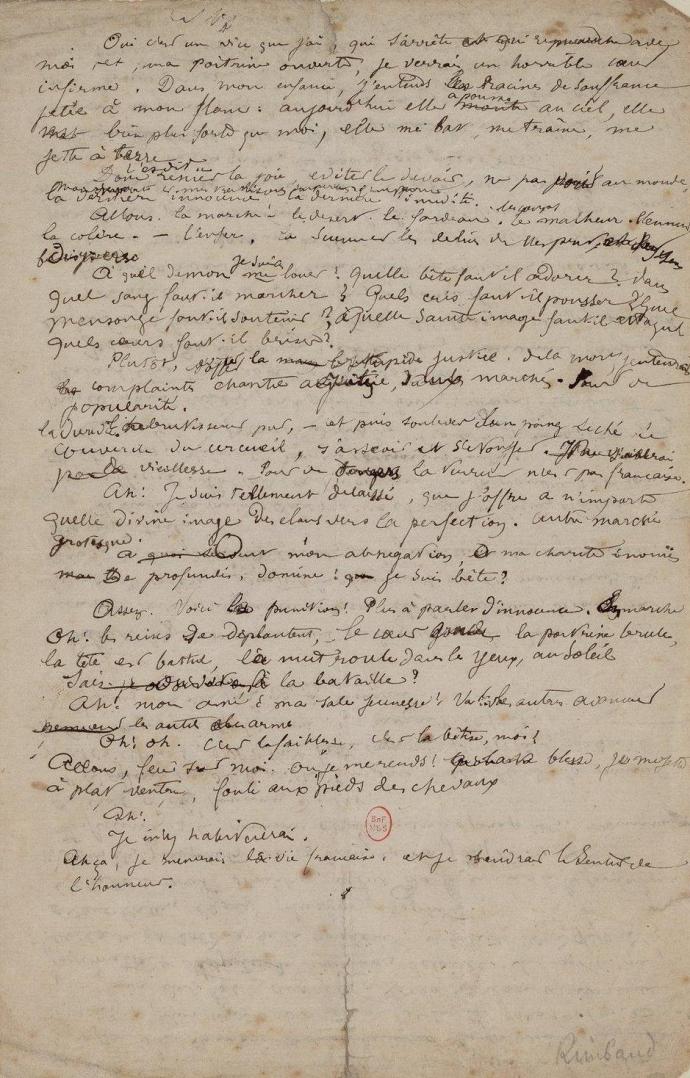 Arthur Rimbaud, Une saison en enfer, April-August 1873.jpg
