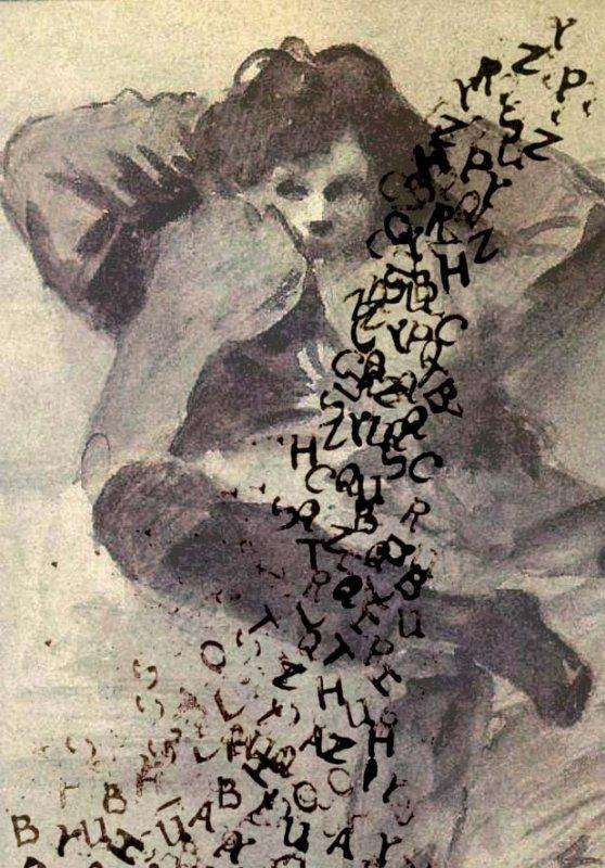 Arthur Rimbaud pluie de lettres sur l'aquarelle de jl forain.jpg